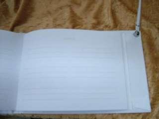 New White Rhinestone Wedding Guest Book Pen Holder Silver