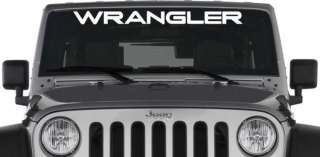 Jeep Wrangler Windshield Vinyl Banner Decal Sticker Logo 38 x 3