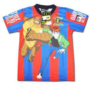 Ben 10 Alien Force Barcelona Style T Shirt Size L Age 6 7 #713