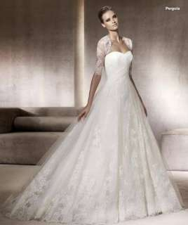 ivory lace empire line wedding bridal dress gown lace up/zipper