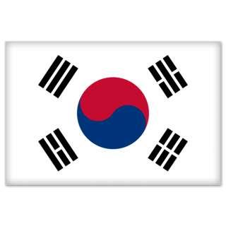 South Korea Korean Flag car bumper sticker 5 x 4