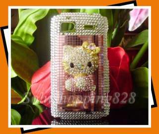 Pink 3D Hello Kitty Bling Hard Case Cover For HTC Inspire 4G