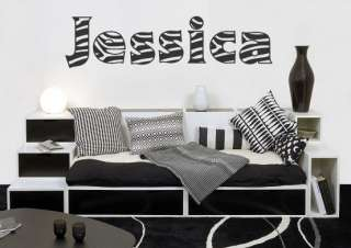 Zebra Print NAME or TEXT Wall / Car Decal Sticker, Highest Quality
