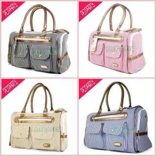 Pet Dog Cat Carrier Tote Bag Handbag Stripe Fashion ★