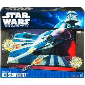 Wars Clone Wars Plo Koons Jedi Starfighter Vehicle Action Figures