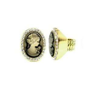 Cameo Fashion Jewelry   Austrian Crystal Cameo Ring Womens Jewelry