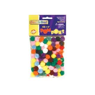 Chenille Kraft Company Pom Pons Assorted 1/2 Inch Crafts