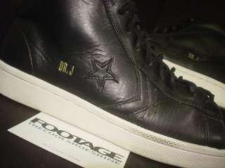 aaa08f914d0 ... Converse Pro Leather DR J JULIUS ERVING BLACK FUDGE BROWN WHITE Sz 9 ...
