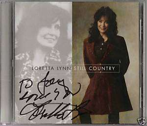 AUTOGRAPH LORETTA LYNN STILL COUNTRY  QUEEN OF COUNTRY MUSIC