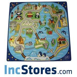 81 Piece Road Trip Kids Baby Play Mat Puzzle Tiles Baby