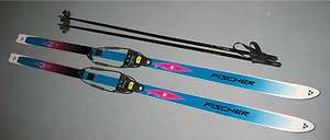 200cm FISCHER GTS STEEL EDGE CROSS COUNTRY TELE SKIS