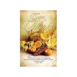 Church Bulletins   Thanksgiving   Enter His Gates (KJV)   100 Sheets