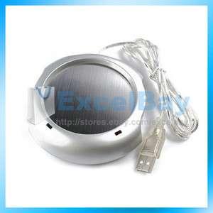 Coffee Tea Cup Warmer Heater PAD Home OFFICE 4 Port USB Pad Hub