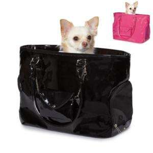Patent Faux Leather Purse Style Dog Pet Carrier