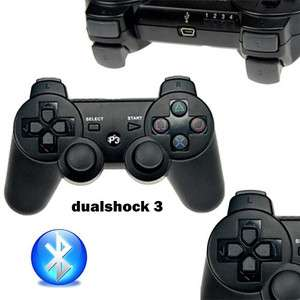 Black 6 Axis DualShock3 Wireless Bluetooth Controller for PS3 One Year