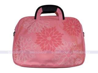 Pink Flower Print Laptop Bag for 14 Notebook
