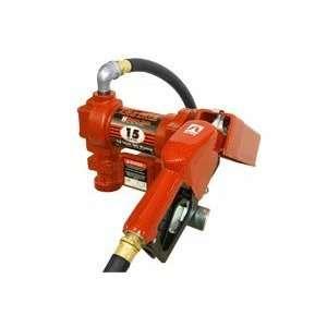 15 GPM Pump Gasoline/Diesel Fuel Transfer Tank Pump w/ auto nozzle