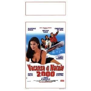 2000 Poster Italian 13x28 Massimo Boldi Christian De Sica Megan Gale