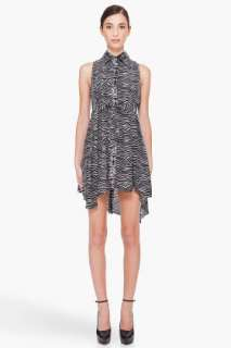 Pierre Balmain Silk Zebra Print Dress for women