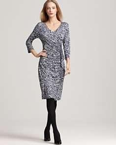 BASLER Animal Print Wrap Effect Dress
