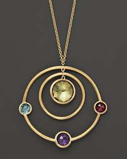 Marco Bicego Jaipur Gold and Multi stone Pendant, 16   Fine Jewelry