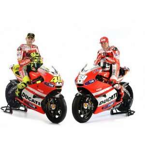 Valentino Rossi and Nicky Hayden on Ducati Bike Moto GP MOTOGP