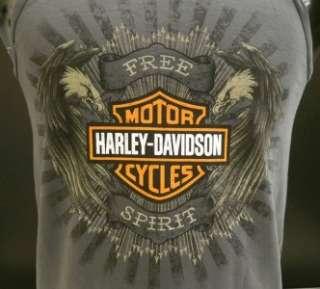 Harley Davidson Las Vegas Dealer Tank Top Tee T Shirt GRAY LARGE