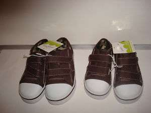 JUMPING BEAN TODDLER BOYS BROWN SNEAKERS SIZE 9,10,OR 6