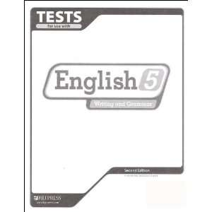 English 5 Writing and Grammar Tests (English 5 Writing and Grammar