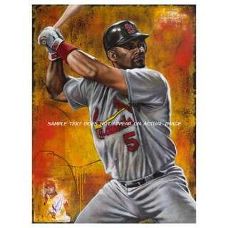 MLB   Albert Pujols Print St. Louis Cardinals The Warrior Wall Canvas