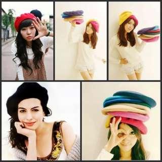 Fashion GIRL WOOL FELT French Lovely CAP HAT TAM gift