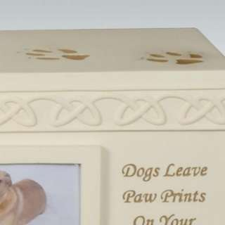 Dog Paws Box Cremation Urn   Dogs Leave Paw Prints