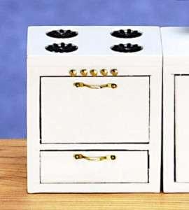 dollhouse miniature WHITE OVEN STOVE KITCHEN FURNITURE