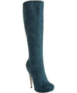 studded suede platform boots