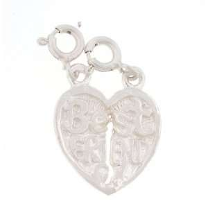 Box Chain Necklace with Charm Best Friend Break Away Heart and Clasp