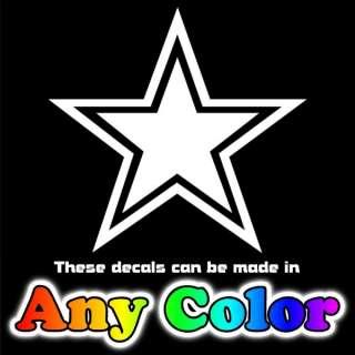 Dallas Cowboys Star Blue Chrome Auto Sticker Decals NFL