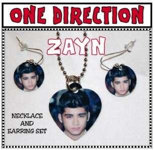 ZAYN MALIK ONE DIRECTION Band Photo Charm Necklace & Earring Set