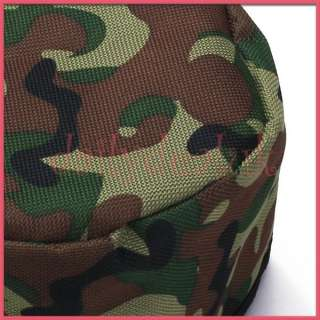 Green Camo Foldable Pet Dog Travel Bowl for Water Food