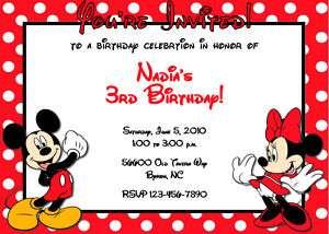 Mickey Mouse U PRINT Birthday Party DIGITAL INVITATION
