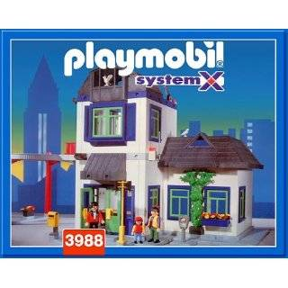 Playmobil Police Headquarters: Large City House with Prison Cell