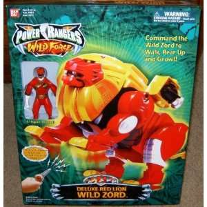 Power Rangers Deluxe Red Lion Wild Zord Electronic Action