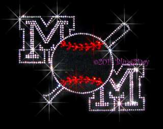 BASEBALL MOM BAT RHINESTONE IRON ON TRANSFER SPORTS HOT