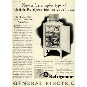 1927 Ad Antique Refrigerator General Electric Cleveland