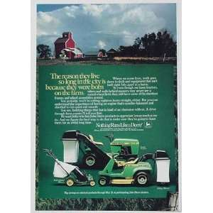 1982 John Deere 108 Lawn Tractor Riding Walk Mowers Print