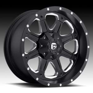 FUEL OFF ROAD BLACK WHEELS 20 X 9 BOOST TOYOTA TACOMA FJ FORD F150