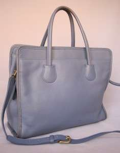 COACH Lg *Blue* Leather BUSINESS TOTE Bag 7302, Made in U.S.