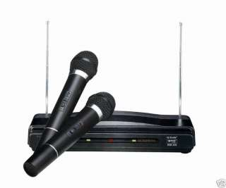 GMI PRO DUO DUAL VHF WIRELESS MICROPHONE SYSTEM W/ 2 MICROPHONE