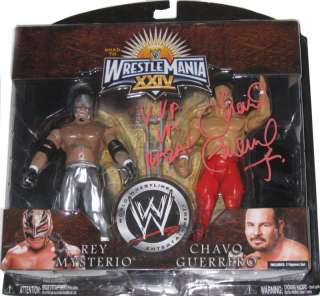 WWE CHAVO GUERRERO SIGNED ACTION FIGURE WITH PIC PROOF