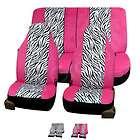 FH FB121112 Zebra Print Car Seat Covers Airbag Ready & Split Bench