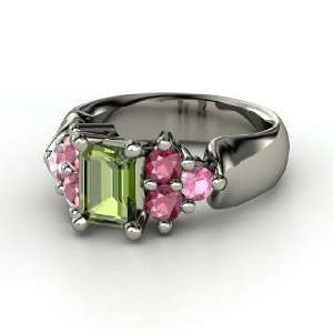 Astrid Ring, Emerald Cut Green Tourmaline Sterling Silver Ring